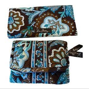 Vera Bradley Java Blue Wallet & Check Book Holder